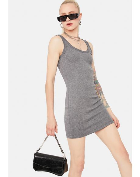 Charcoal Loves To Please Mini Dress