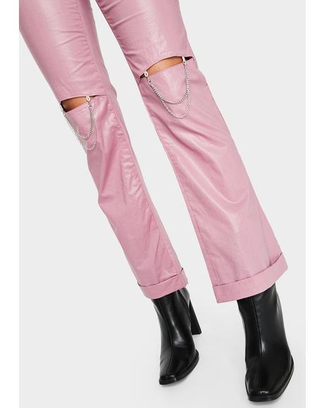 Lip Chain Wide Leg Pants