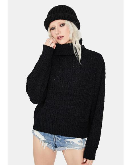 And A Scholar Turtleneck Sweater