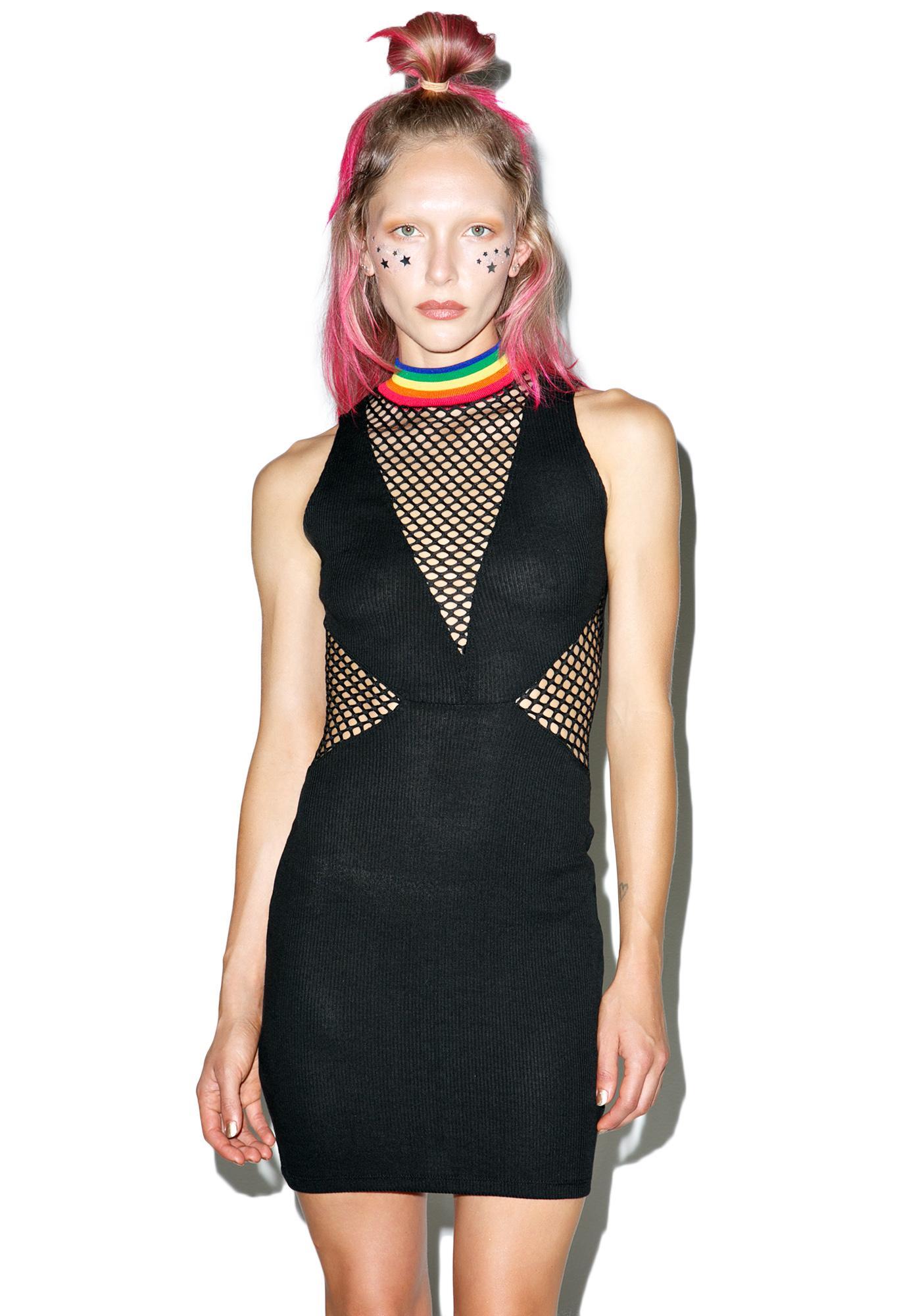 Jaded London Rainbow Babe Bodycon Dress