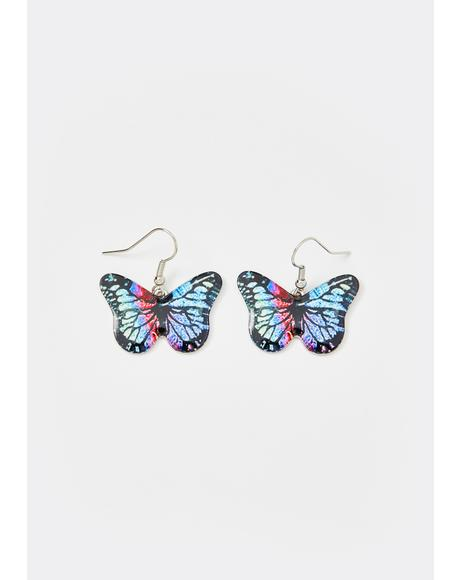 Elevated Luv Butterfly Earrings