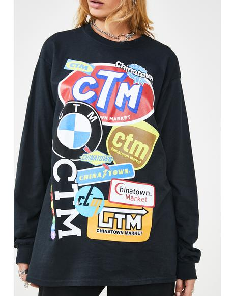 Logo Collage Long Sleeve T-Shirt