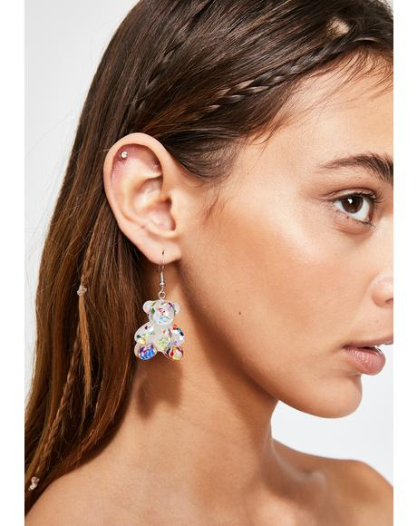 Pure Sugar Rushin' Gummy Bear Earrings