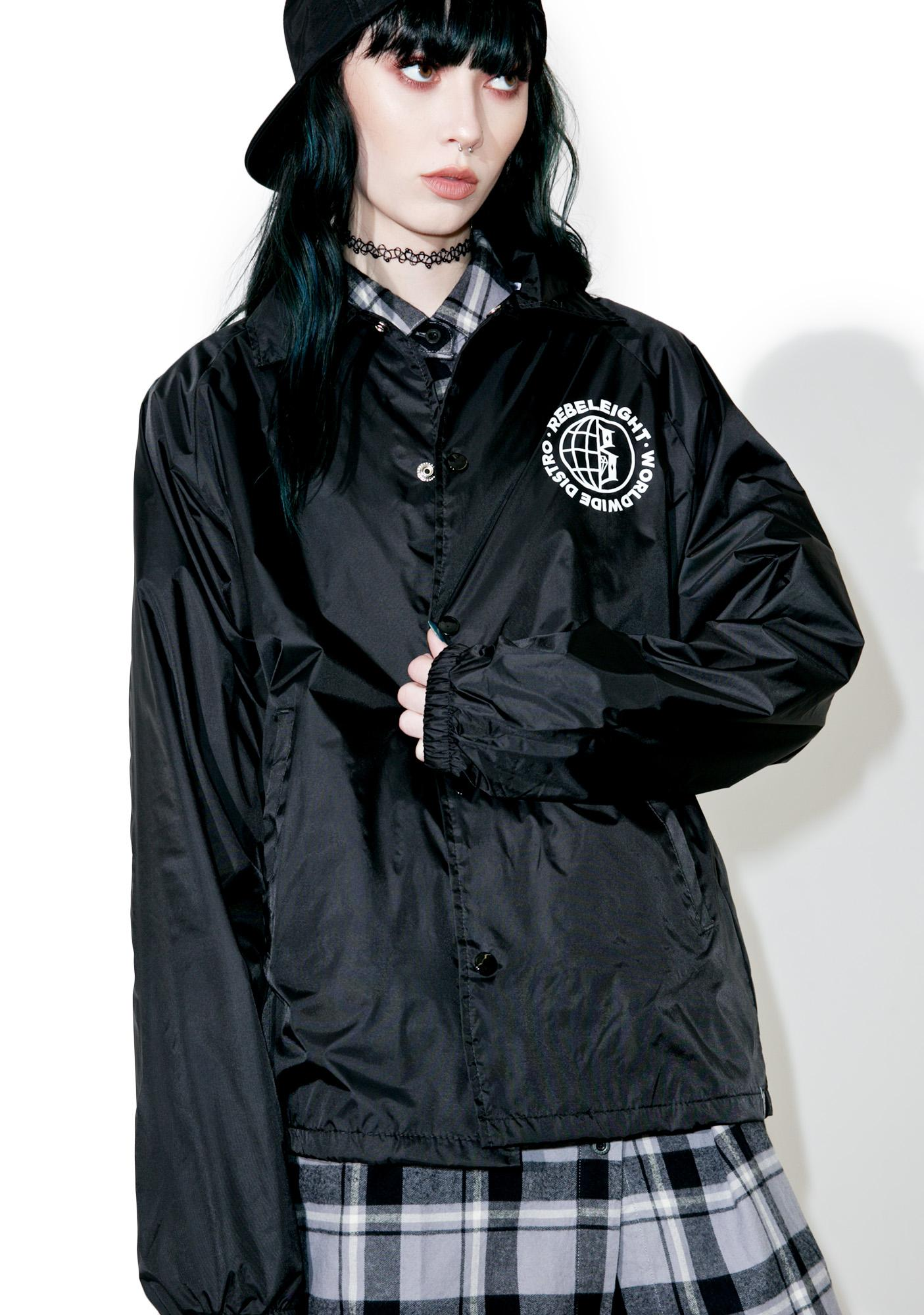 Rebel8 Worldwide Distro Coaches Jacket