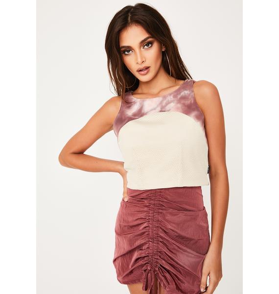 ZEMETA Tie Dye Windbreaker Dress Set