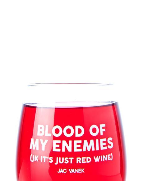 Blood Wine Glass