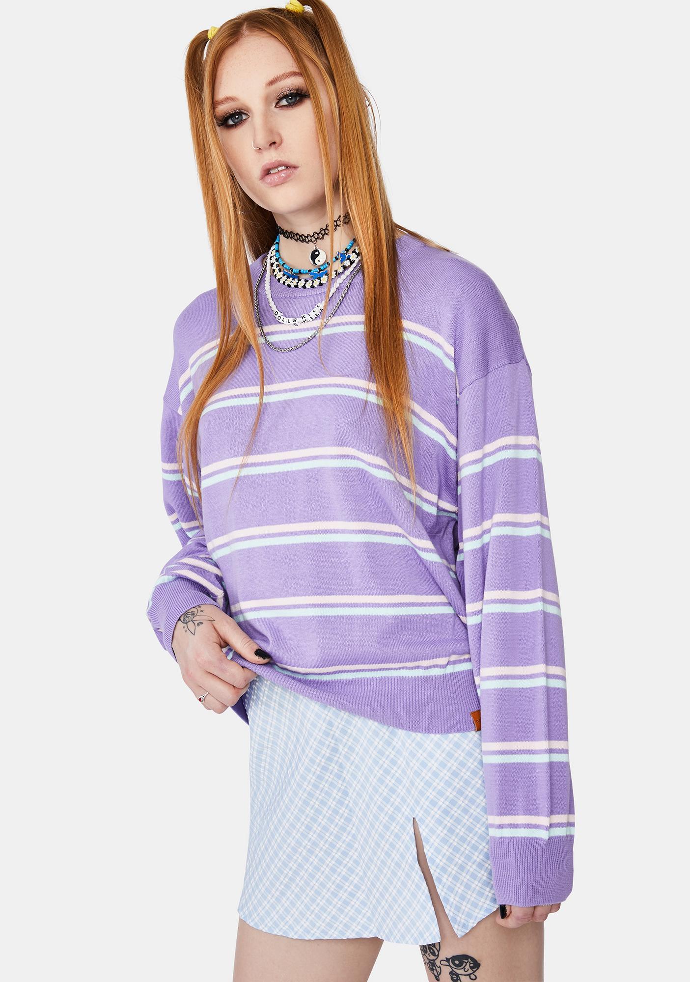 Obey Lefty Strip Crewneck Sweater