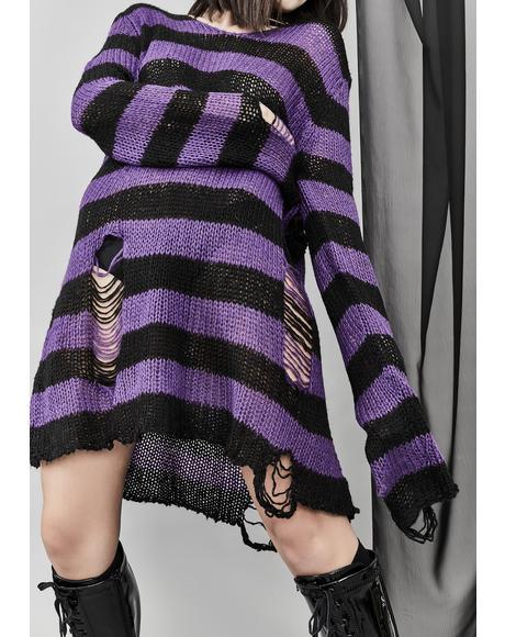 Amethyst Eternal Nightmare Distressed Sweater