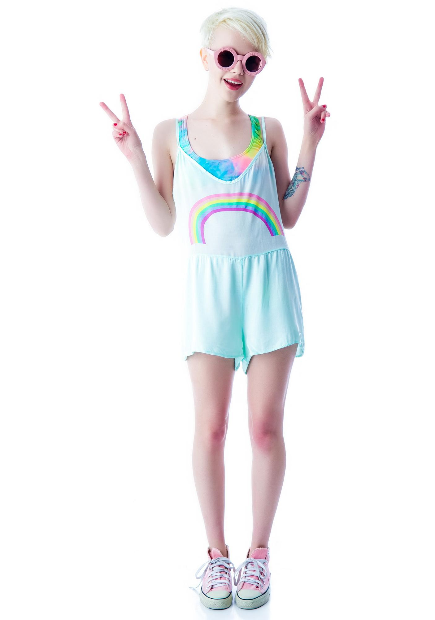 Wildfox Couture Pastel Rainbow Rio Romper