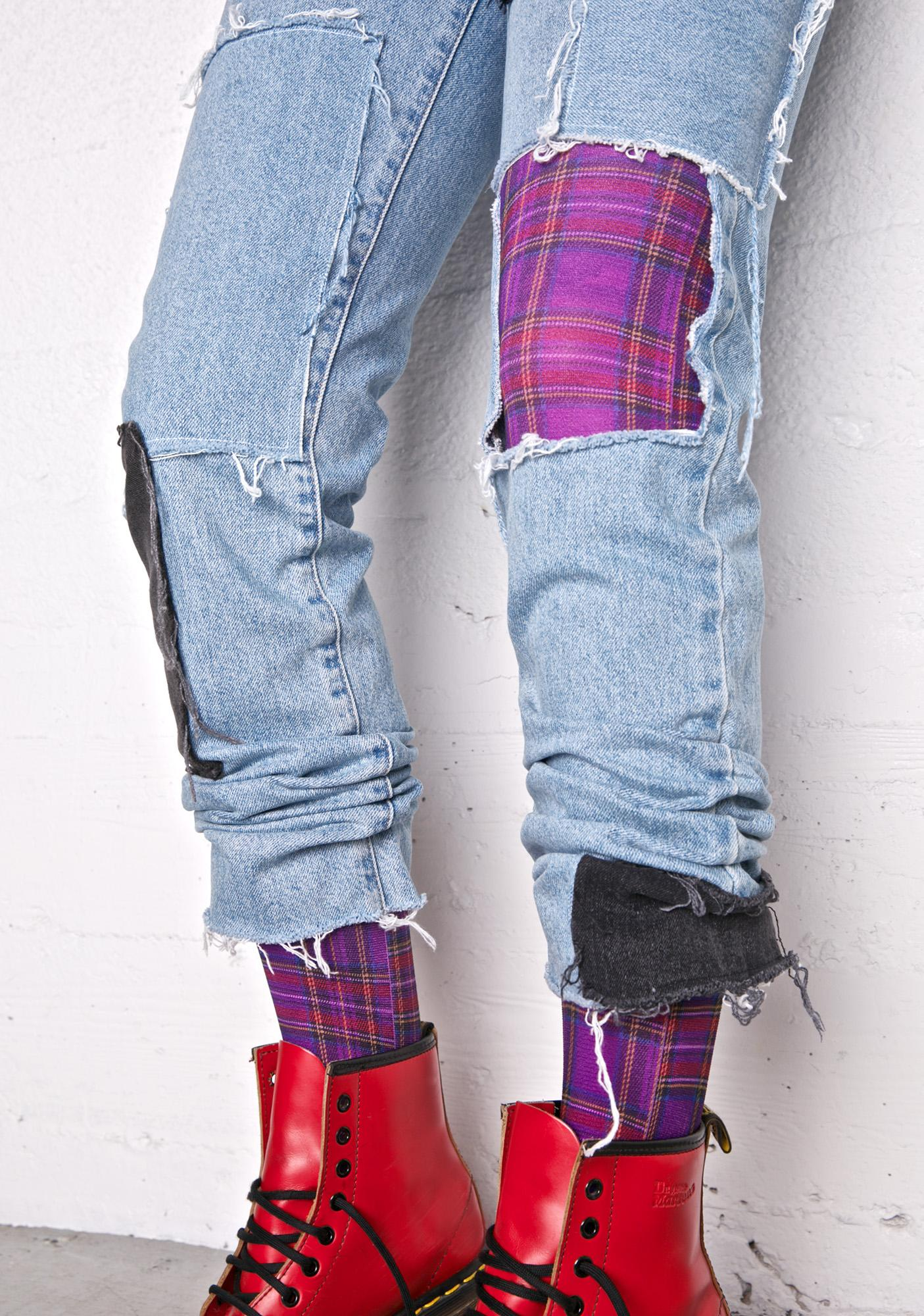Plaid Present Tights