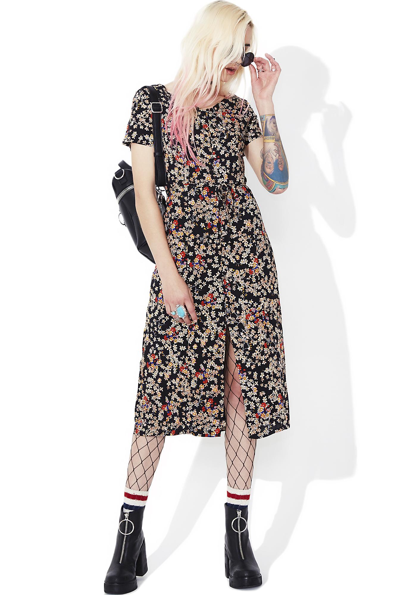 Glamorous Daisy May Buttoned Midi Dress