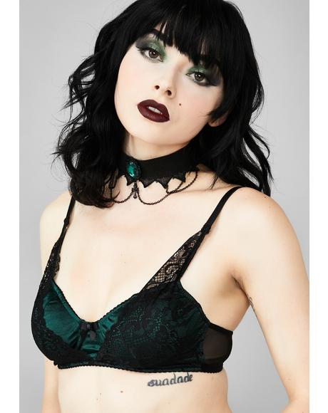 Distant Whisper Satin Bra