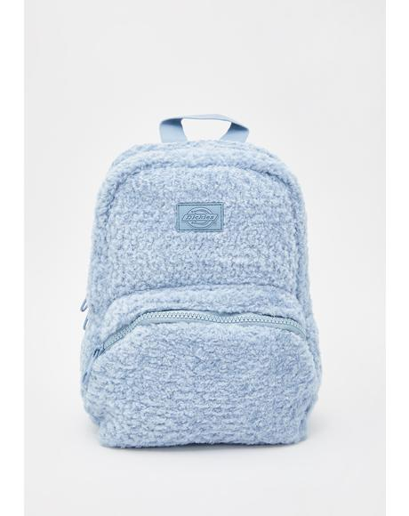 Dusty Blue Sherpa Mini Backpack