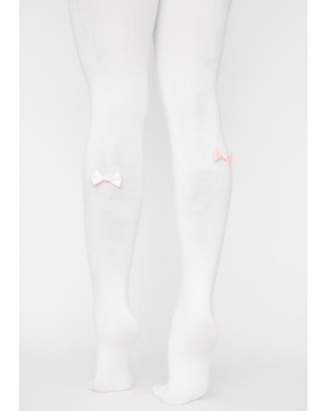 Merci Mademoiselle Bow Tights