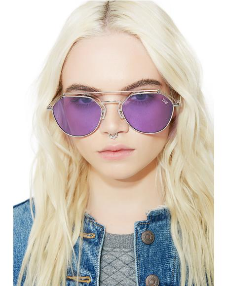Lilac Stephanie Transparent Sunglasses