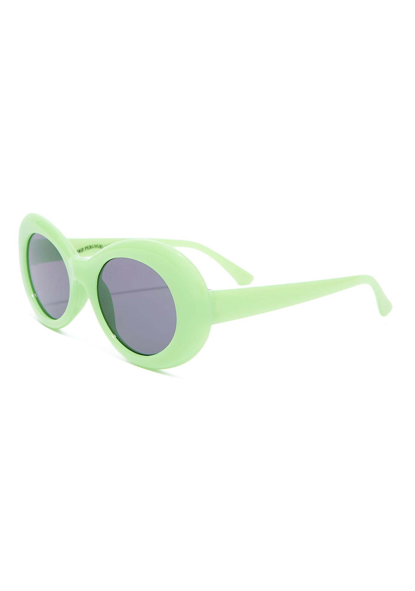 Petals and Peacocks Neon Green Nevermind Sunglasses