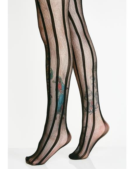 Shadow Lady Suspender Tights