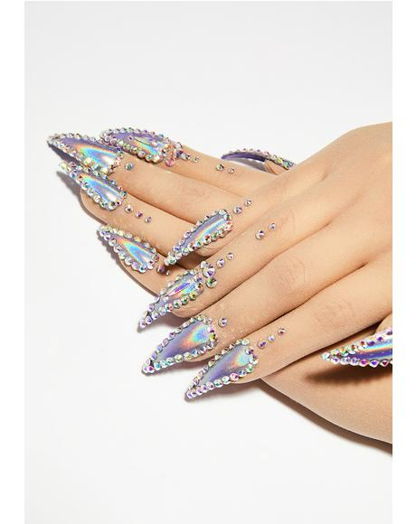 Holographic Nail Gloves