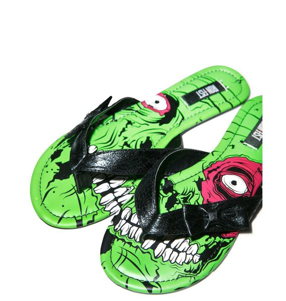 Iron Fist Zombie Stomper Sandals
