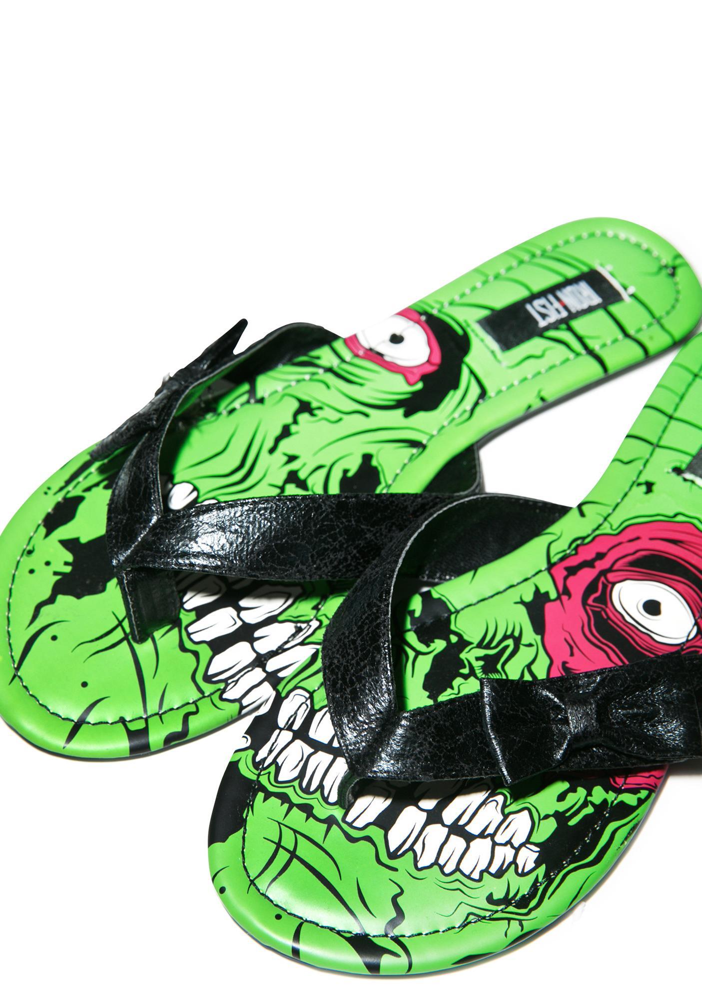 Iron Fist Zombie Stomper Sandals
