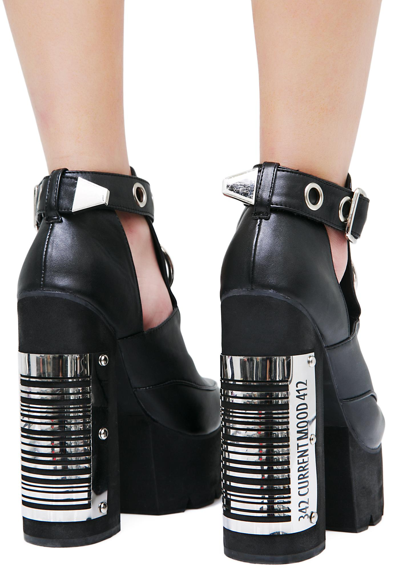 Current Mood Bar Code Heels