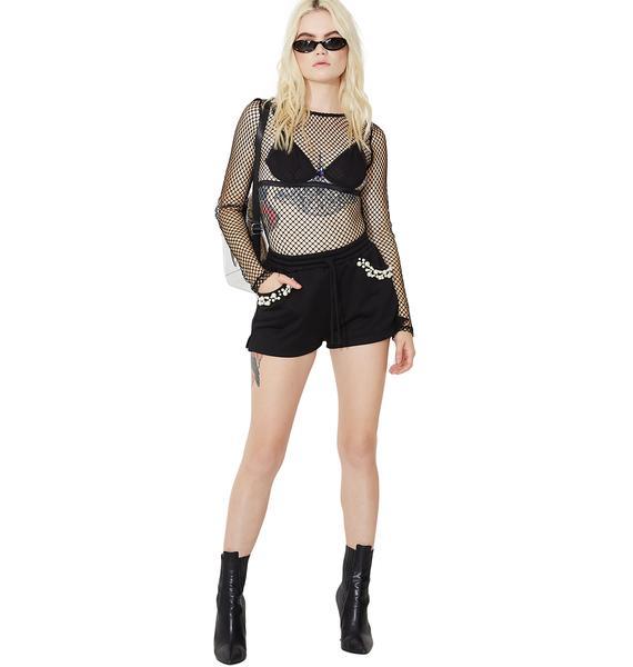 Lavish Lounger Embellished Shorts