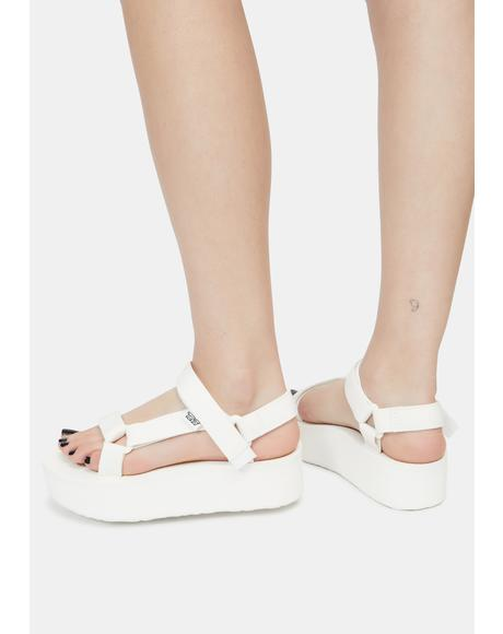 White Flatform Universal Sandals