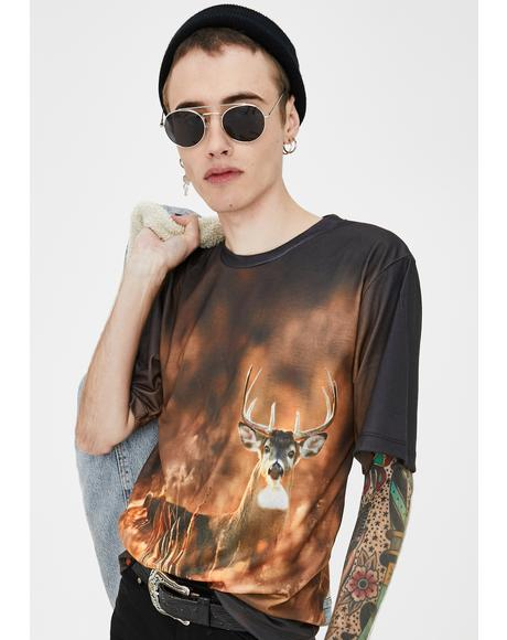 Subliminal Animal Buck Graphic Tee