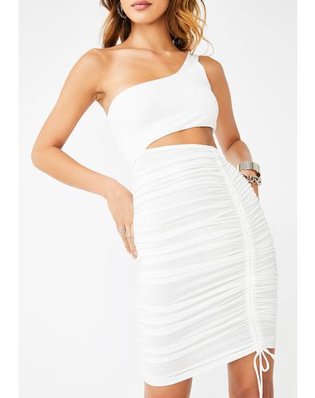 Blanc Baddie Intentions Bodycon Dress