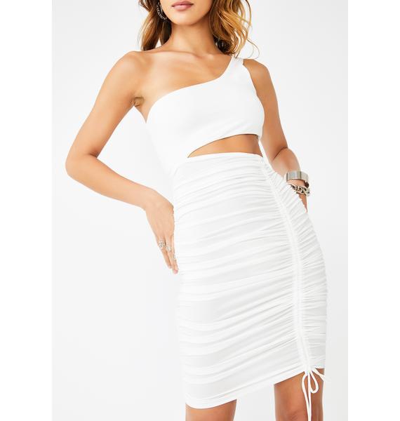 Kiki Riki Blanc Baddie Intentions Bodycon Dress