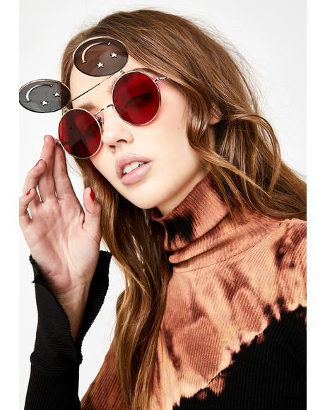 Hot Crazed Daze Smiley Sunglasses