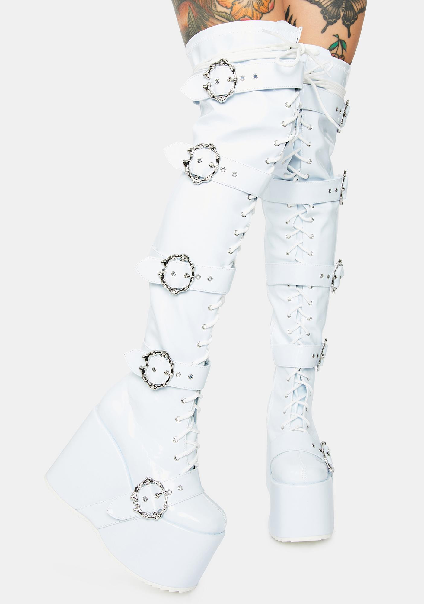 Ellie Shoes Pure Chance At Romance Knee High Boots