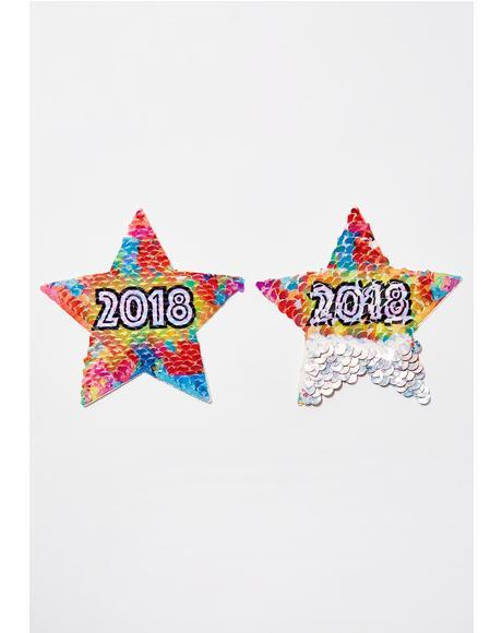 2018 Sequin Star Pasties