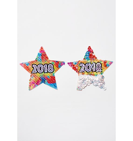 Pastease 2018 Sequin Star Pasties
