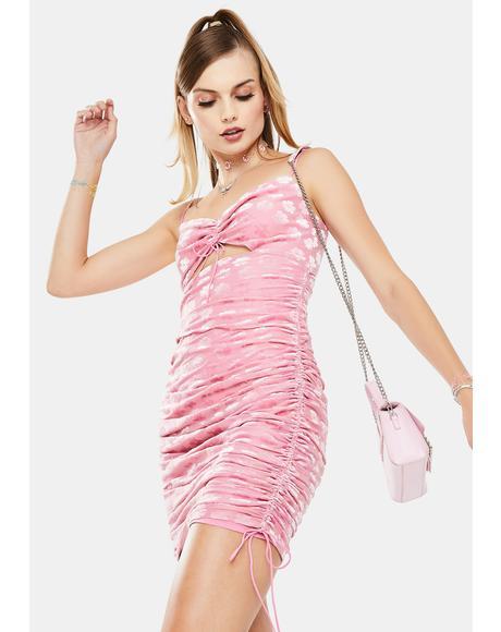 Lusk Velvet Midi Dress