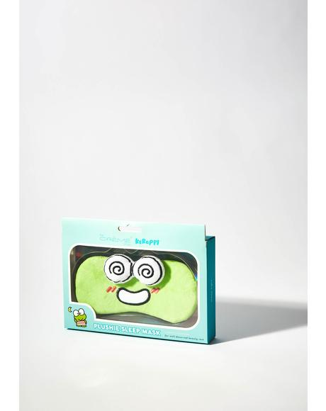 Keroppi Plushie Sleep Mask