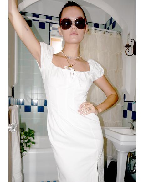 Ivory Tutti Frutti Midi Dress