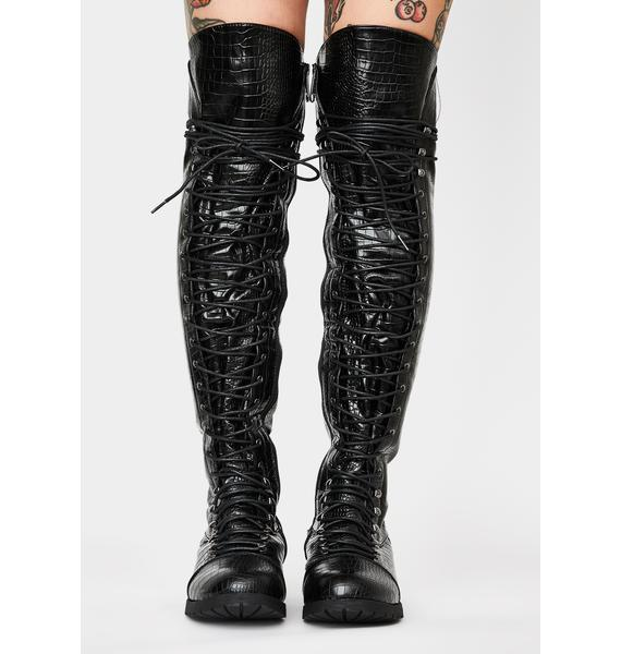 Croc Harsh Fight Lace Up Boots