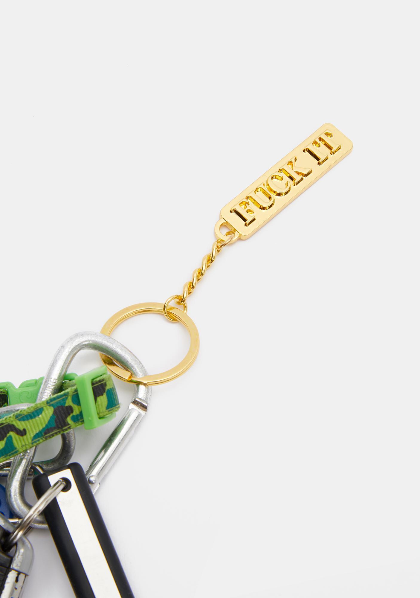 HUF F It Keychain