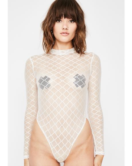 Angel Puzzled High Mesh Bodysuit