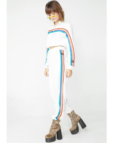 Pure Rainbow Striped Track Pants