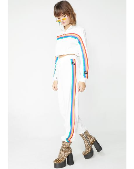 Pure Rainbow Stripe Track Pants