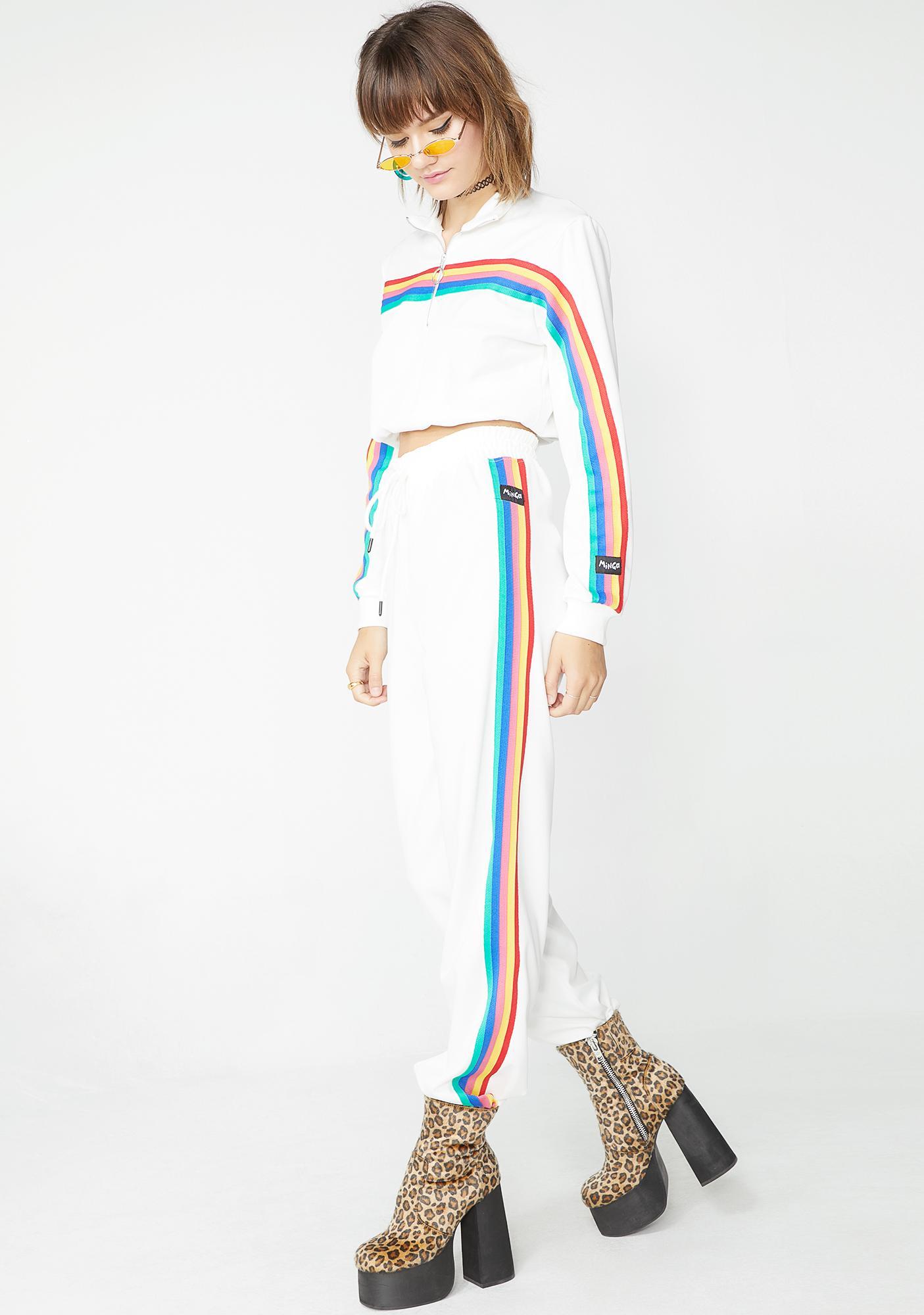 Minga Pure Rainbow Stripe Track Pants