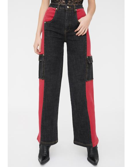 Bessi Denim Cargo Pants