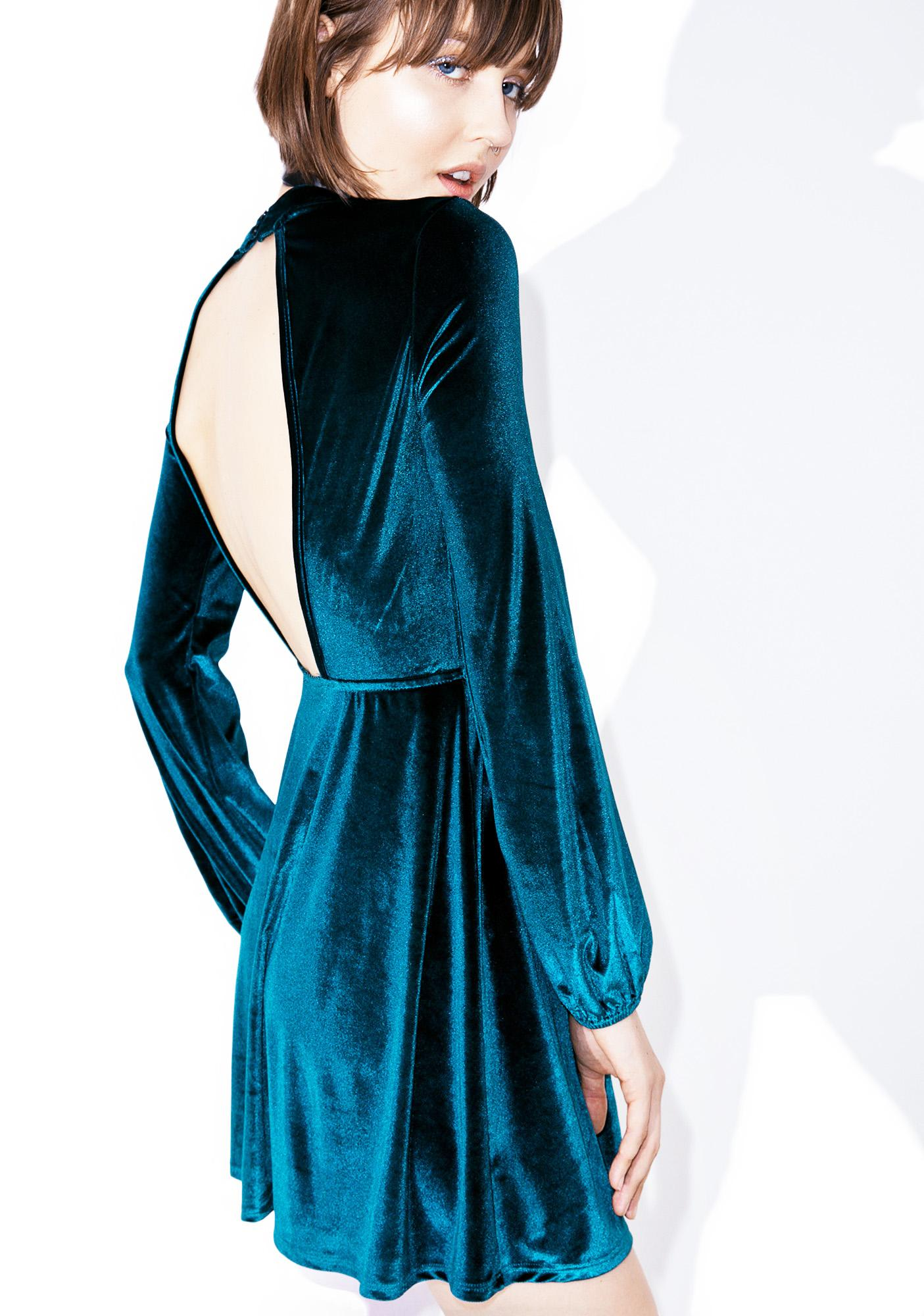 Rich Bitch Velvet Dress