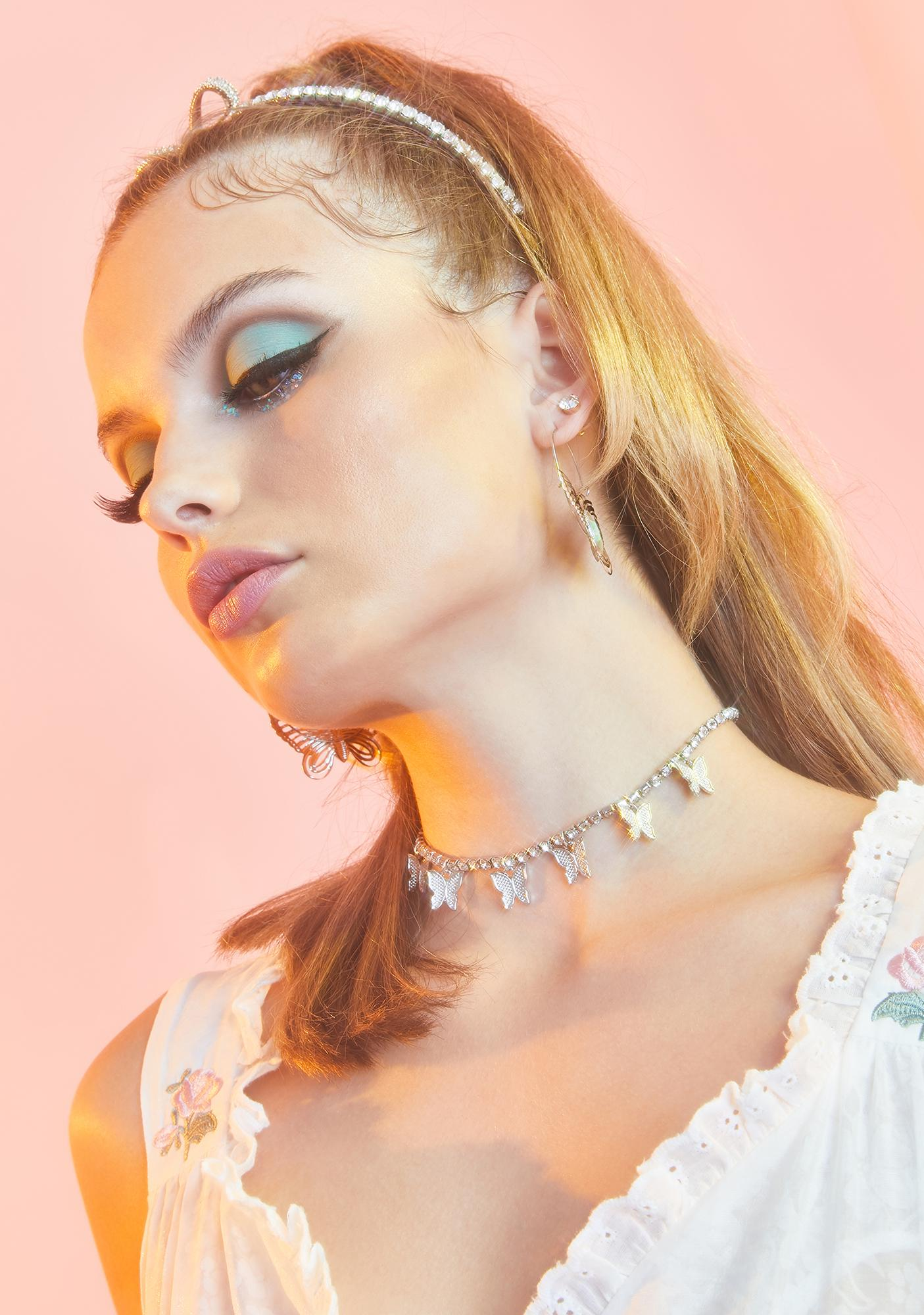 Touch Of Shine Butterfly Choker