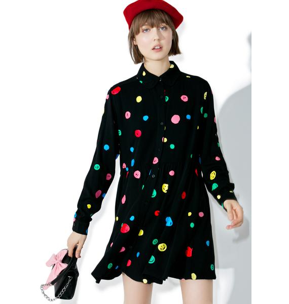 Lazy Oaf Scribble Spot Dress