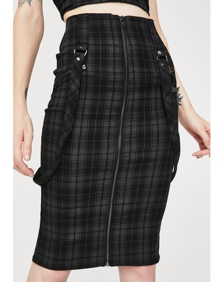 Tartan Darklands Pencil Skirt