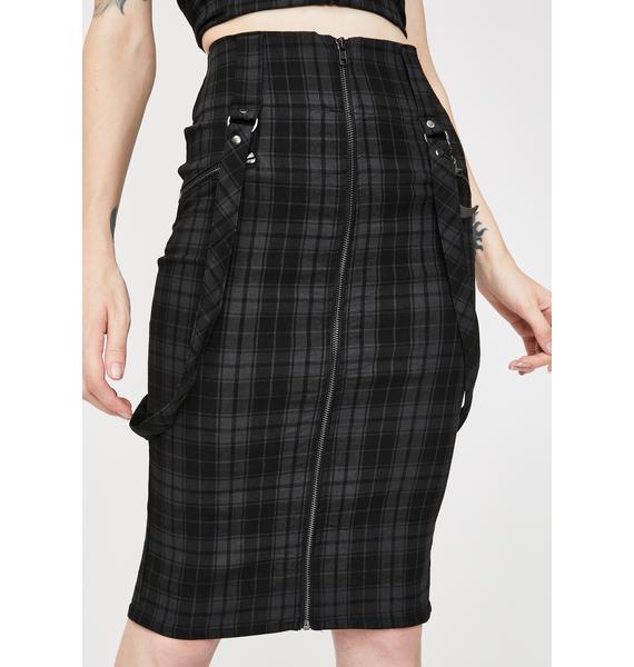 Killstar Tartan Darklands Pencil Skirt