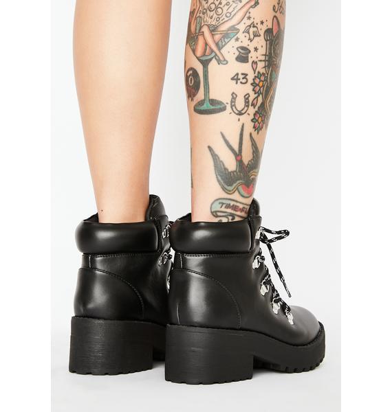 Sky Scraper Lace Up Boots